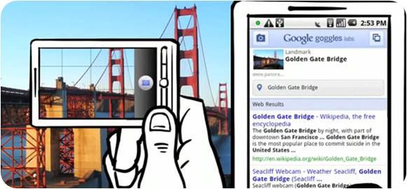 Google Goggles, aplicación móvil