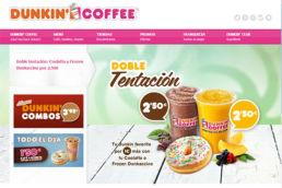 diseño web dunkin coffee