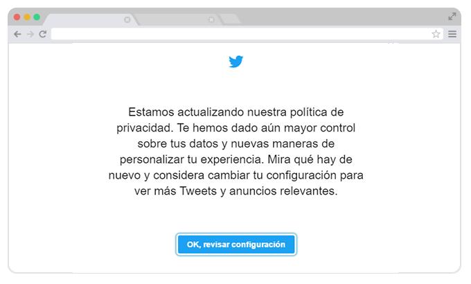 Nueva política de Privacidad de Twitter