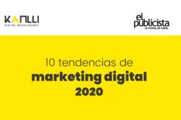 infografía tendencias de marketing digital 2020